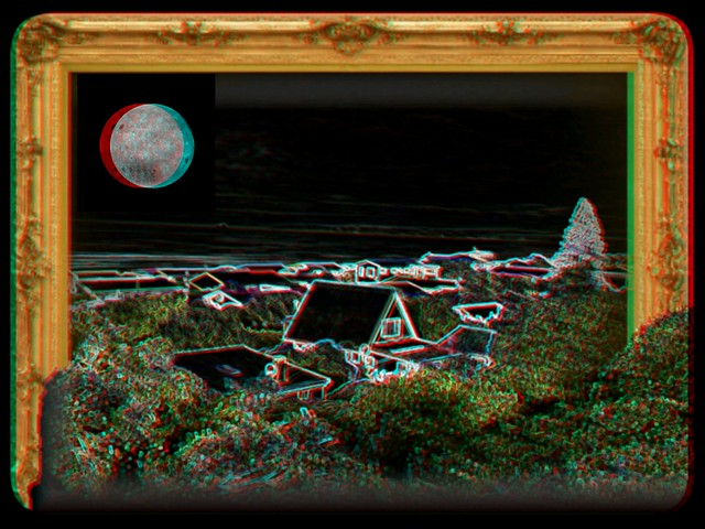 Moon anaglyph..