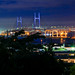 View Yokohama Bay Bridge from Harbor View Park ; 港の見える丘公園より横浜ベイブリッジを展望