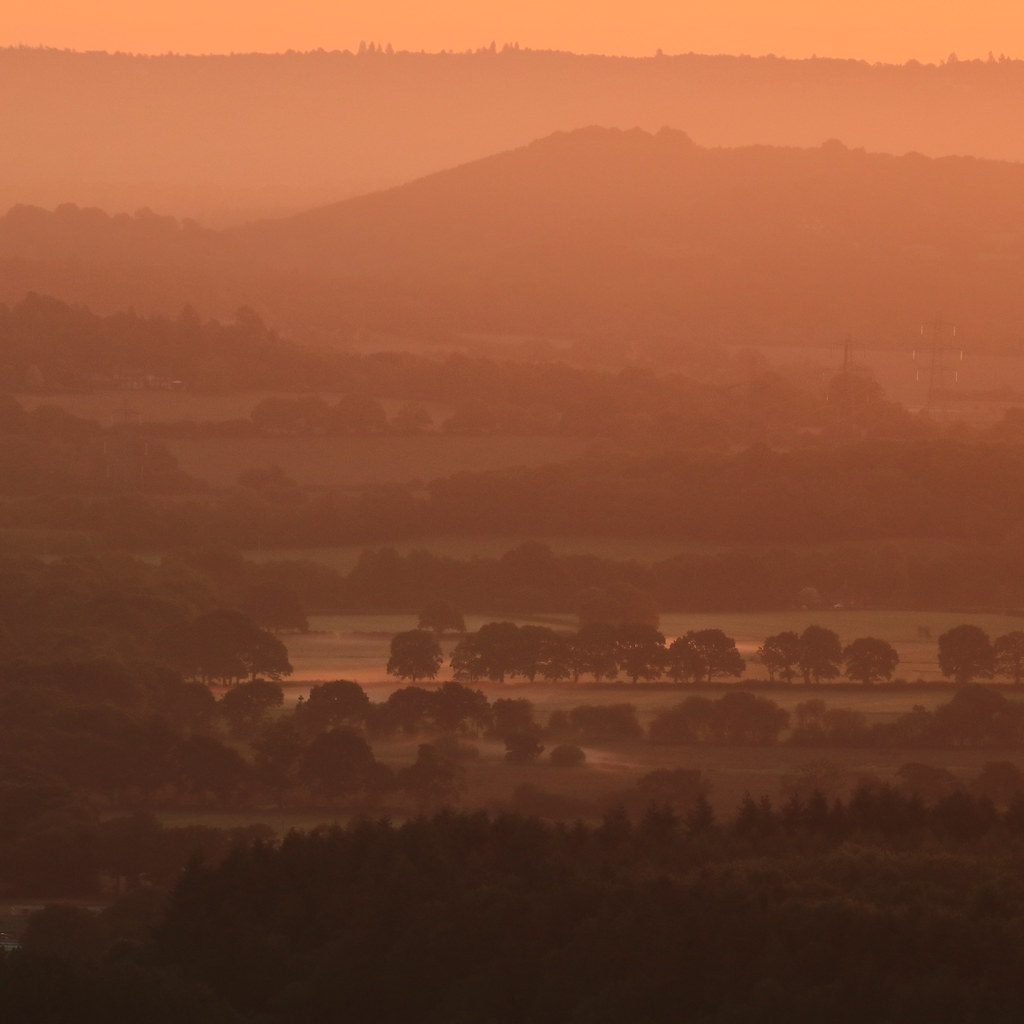 By dawn's light - a morning view across the Rother Valley