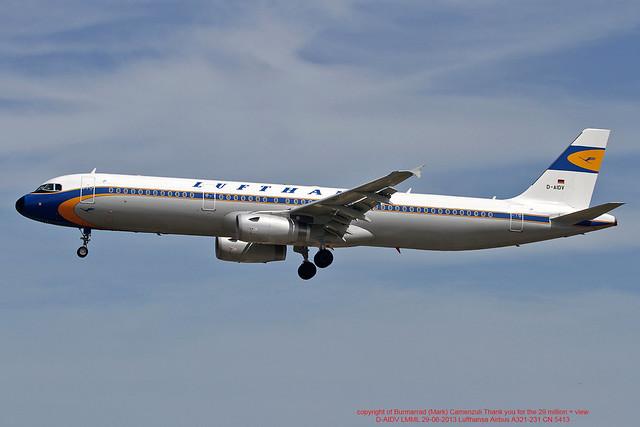 D-AIDV LMML 29-06-2013 Lufthansa Airbus A321-231 CN 5413