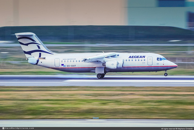 TLS.2008   #Aegean.Airlines #A3 #British.Aerospace #Avro #RJ100 #SX-DVF #awp