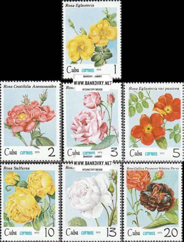Známky Kuba 1979 Ruže, nerazítkovaná séria MNH