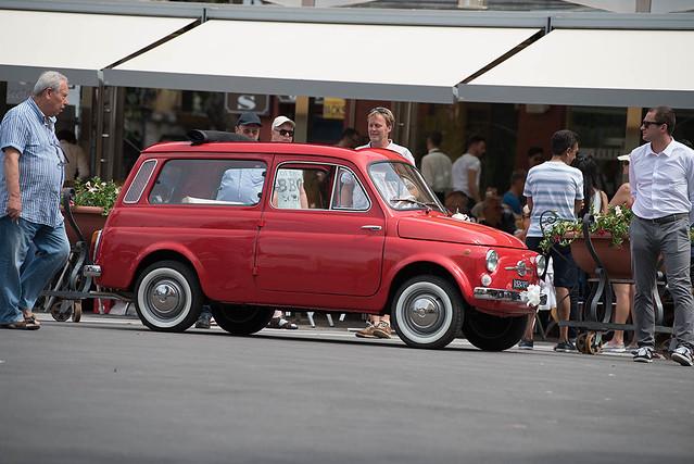 Fiat 500 Giardiniera in Piazza Tasso Sorrento