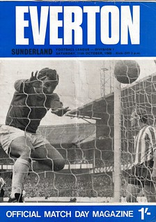 Everton v Sunderland 11/10/1969