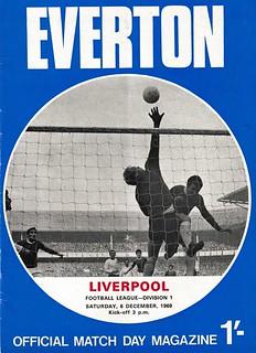 Everton v Liverpool 06/12/1969