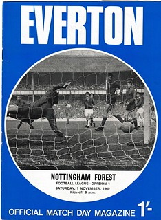 Everton v Nottingham forest 01/11/1969