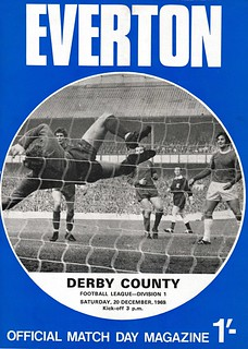 Everton v Derby Counbty 20/12/1969