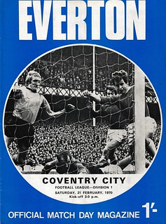Everton v coventry City 31/02/1970