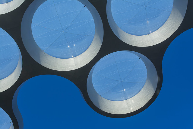 Roof with round windows