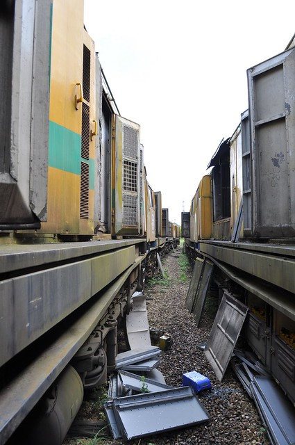 Destruction Alley at Alizay Depot on 19 08 2014