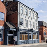 Updated frontage of The Station pub in Preston