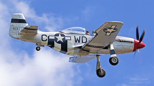 North American P51 D Mustang 44-13779 USAF 413779 G-SHWN Painted in her new colours used to be RAF Sharkmouth 4473877