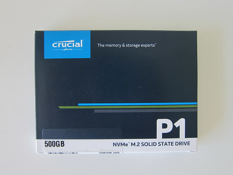Crucial P1 500GB NVMe M.2 SSD - Box Front