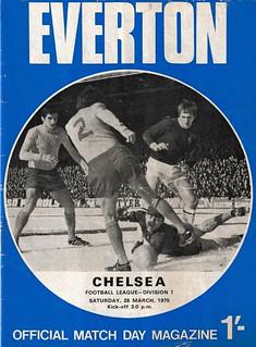 Everton v Chelsea 28/03/1970