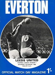 Everton v Leeds Utd 30/08/1969