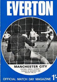 Everton v Manchester City 23/12/1969