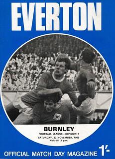 Everton v burnley 22/11/1969
