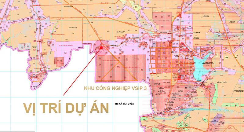 Vị trí dự án trên Bản đồ kế hoạch sử dụng đất huyện Bắc Tân Uyên (Bình Dương) - Nhấn vào để xem kích thước lớn