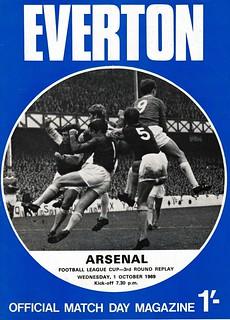 Everton v Arsenal 01/10/1969