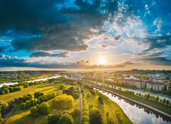 Sunny evening | Kaunas aerial #145/365