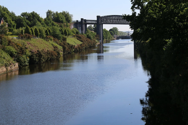 25th May 2020. Morning Constitutional. Old railway bridge over the Manchester Ship Canal, Latchford-Thelwall, Cheshire.