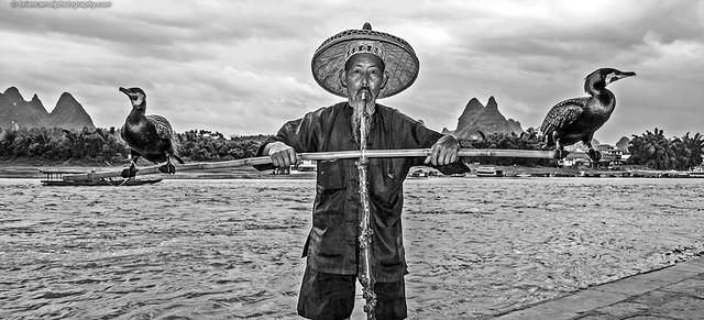 IMG_6509e Cormorant Fisherman, Guilin, China