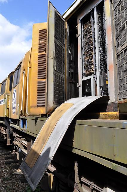 Damaged Access Panels 58007 (58-007) at Alizay Depot on 19 08 2014