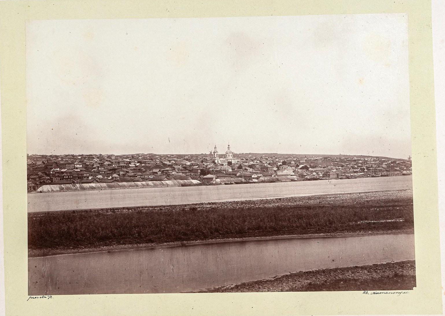 Аксай. Панорамный вид города из-за излучины реки Дон