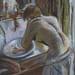 D'après Edgar Degas Pastel sur papier gris.