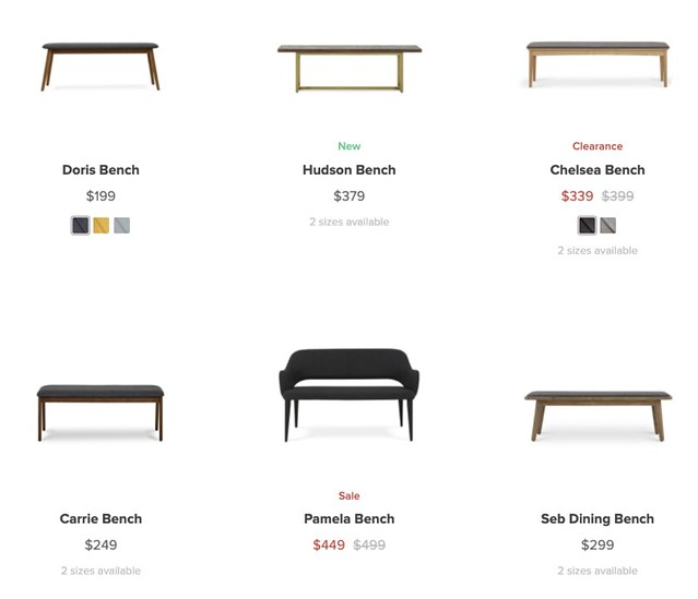 castlery benches
