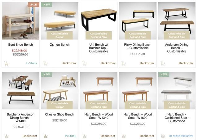 comfortfurniture benches