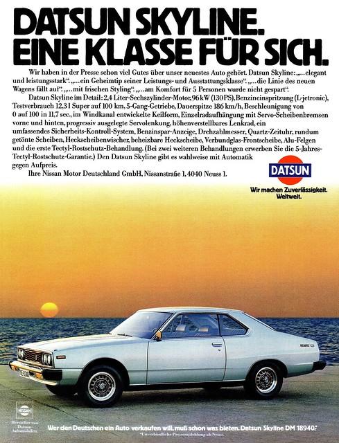 Datsun Skyline (1979) Typ C210 / C211 - 2.4-Liter Hardtop-Coupé
