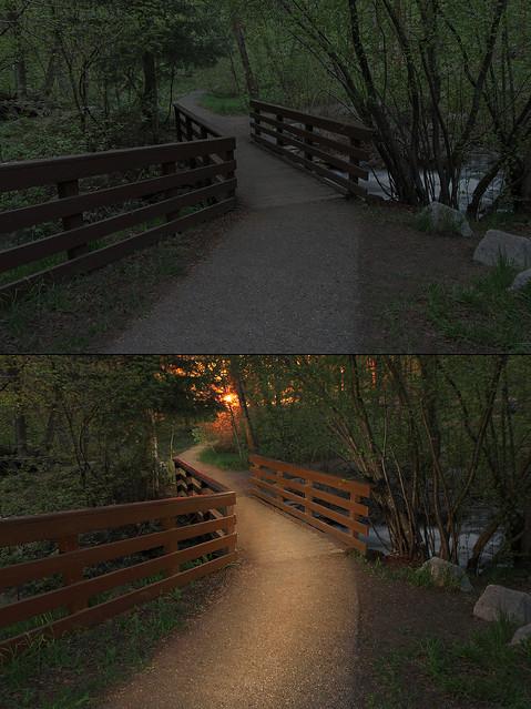 Light painting comparison