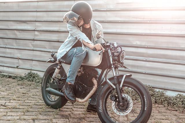 Gentleman With Motorcycle
