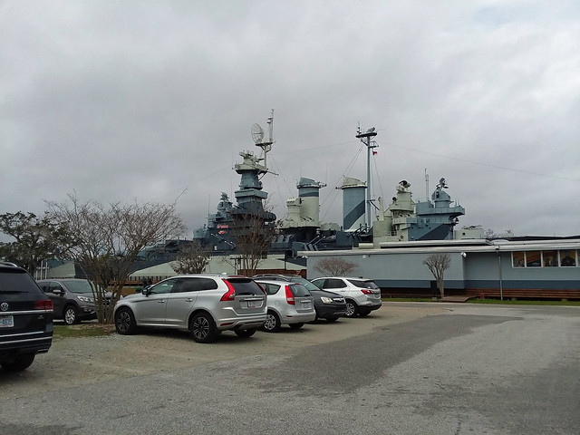 Parking Lot At USS North Carolina.