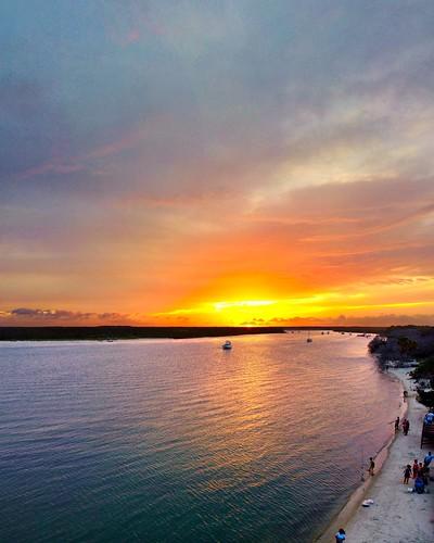 florida matanzasinlet fortmatanzas sunset matanzasriver aerial djimavicmini drone