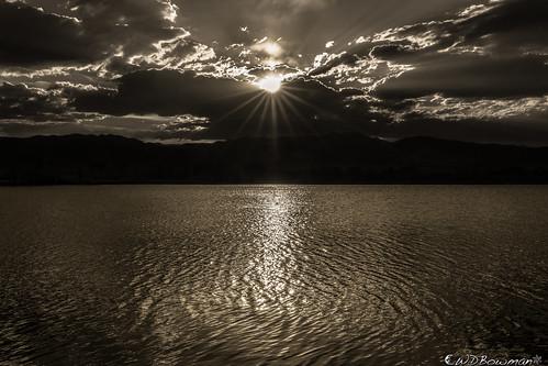 cootlake sunset sunstar mono shiningsun