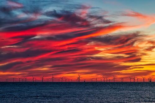 wallasey england unitedkingdom sunset