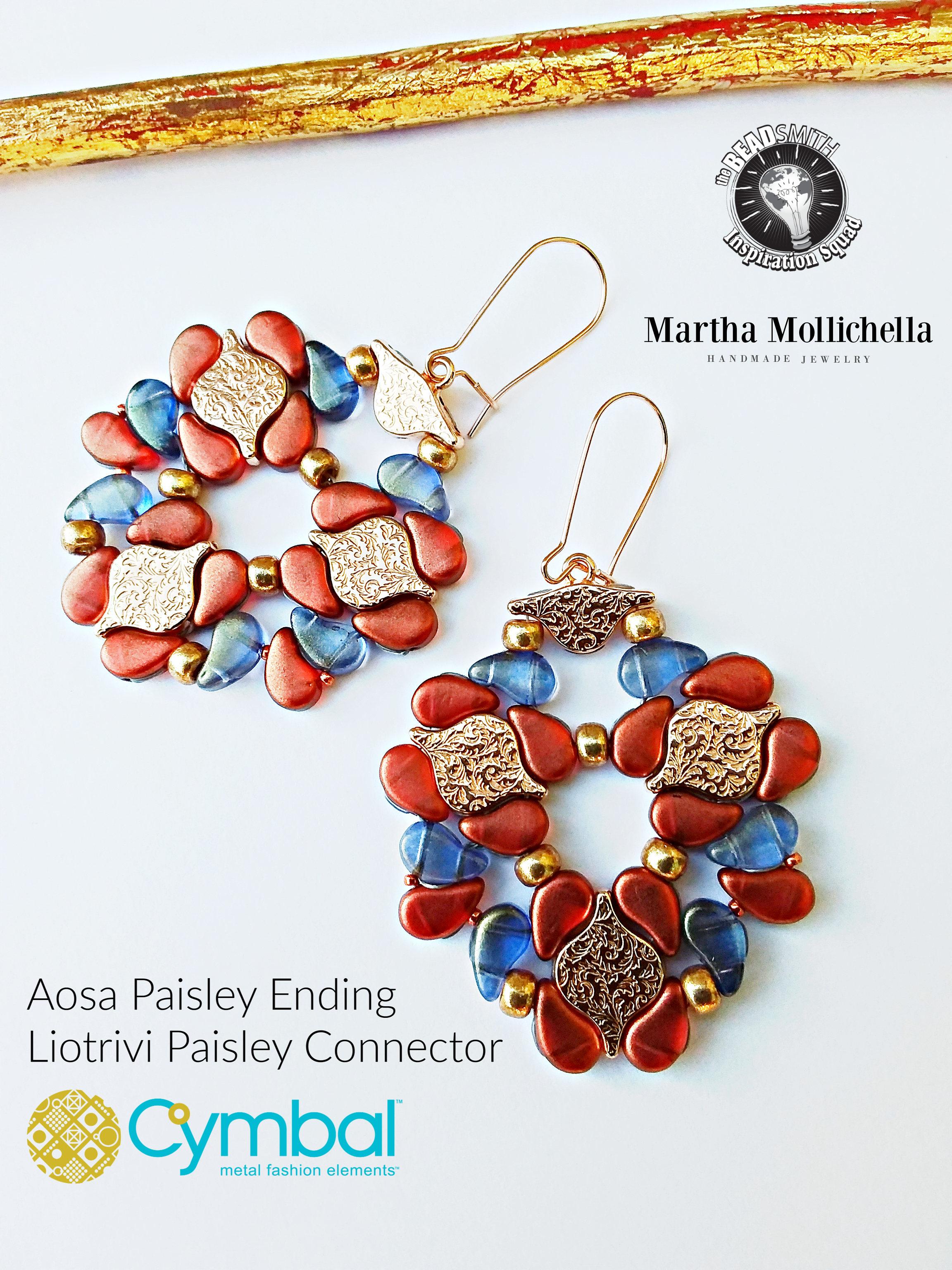 Aosa Paisley Ending Liotrivi Connector Cymbal elements by Martha Mollichella