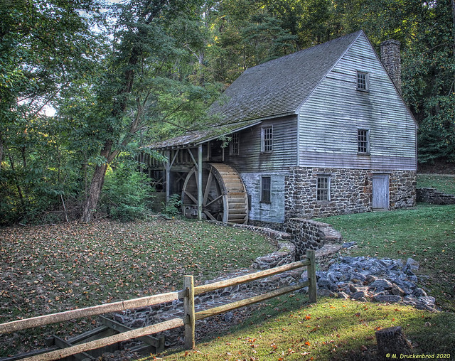 Stratford Grist Mill at Stratford Hall Plantation. Stratford Virginia