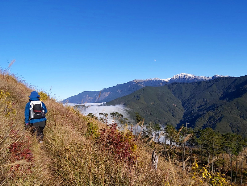 ROMA: watching snow capped Mt. Nanhu and the sea of clouds made the descending more enjoyable