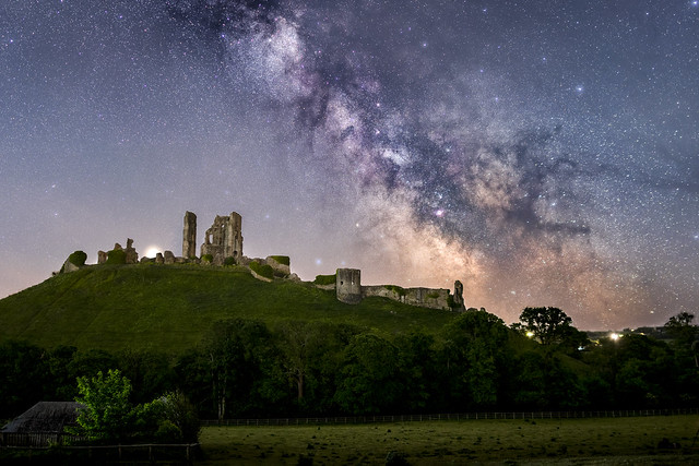 Corfe Castle Milky Way