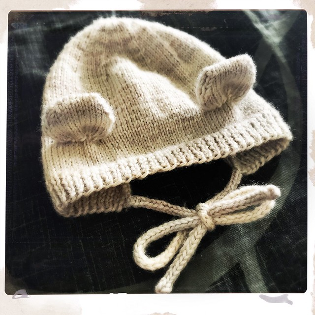 Knit Bear Bonnet