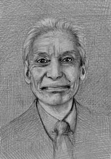 Portrait of Charlie Watts. Drummer. Black Graphite and Polychromos Pencil drawing by jmsw.