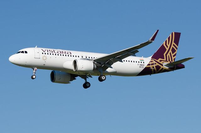 F-WWDP / VT-TNX - Airbus A320-251 NEO - Vistara - msn 9572