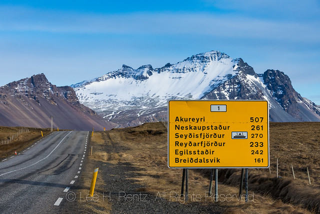 Remote Highway 1 in Iceland