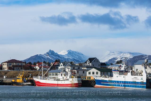 Vessels Moored in Höfn Harbour Iceland