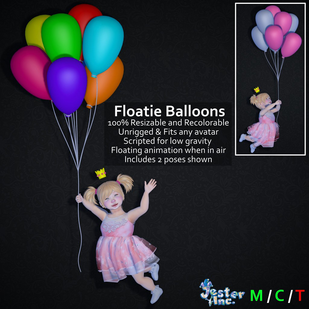 Presenting the new Floatie Balloons from Jester Inc.