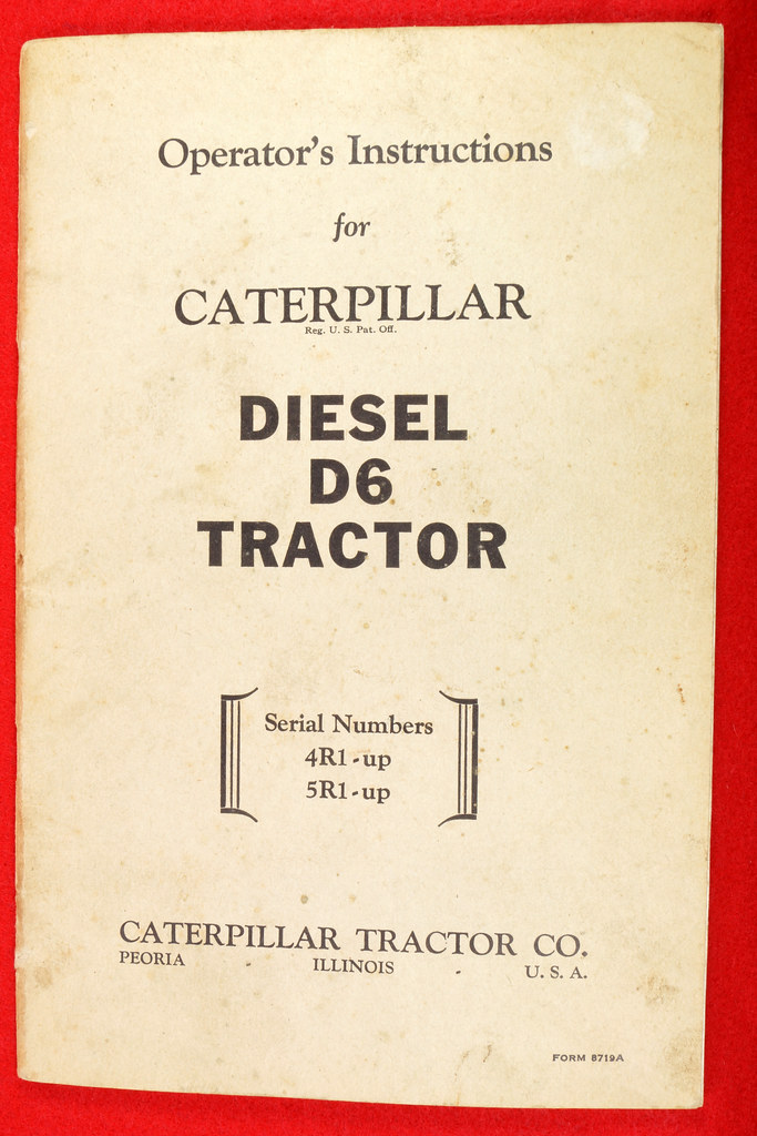 RD22223 1946 Caterpillar Operator