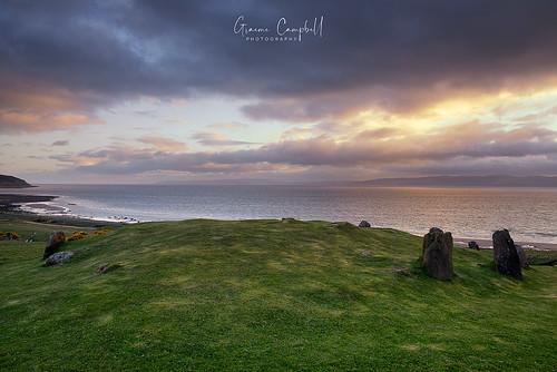 ngc scotland arran cairn stonecircle sunset nikon